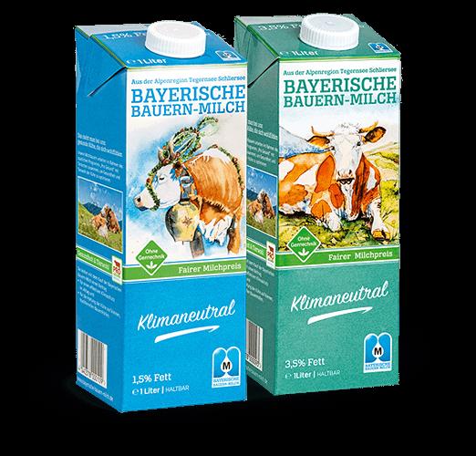 Bayerische Bauernmilch 3,5% + 1,5% Fettgehalt