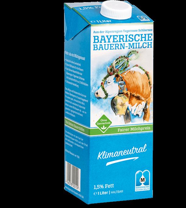 Bayerische Bauernmilch mit 1,5% Fettgehalt