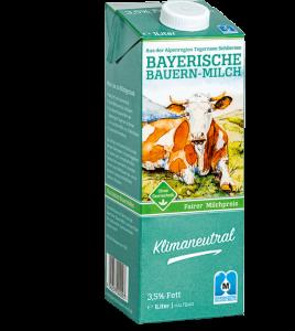 Bayerische Bauernmilch mit 3,5% Fettgehalt