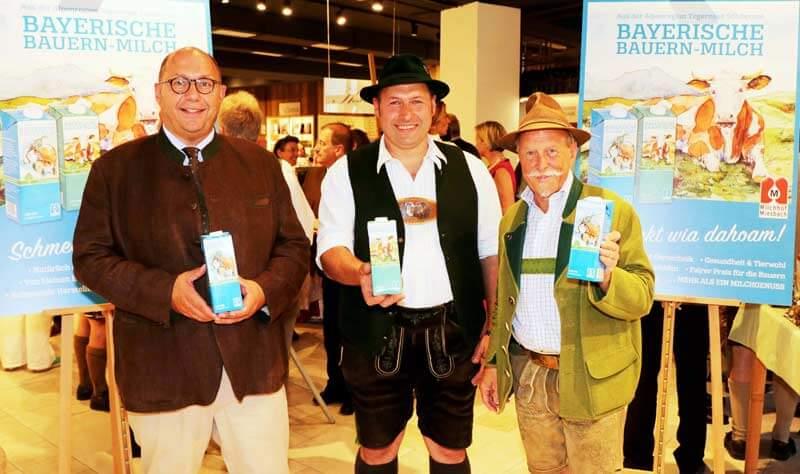 Präsentation der Bayerischen Bauern-Milch in neuem Gewand