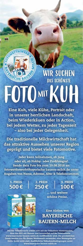 Anzeige im Miesbacher Merkur zum Start des Fotowettbewerbs